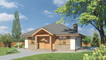 Проект одноэтажного дома с четырехскатной крышей