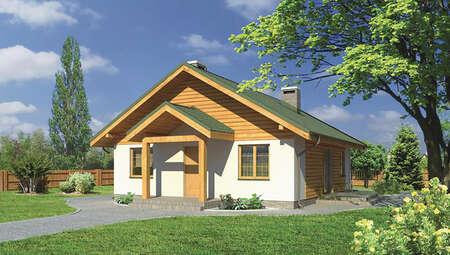 Проект одноэтажного дома квадратной формы
