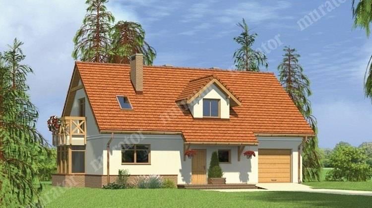 Проект красивого дома с большой мансардой
