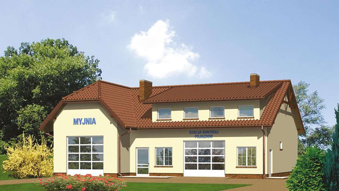 Проект здания для обслуживания техники