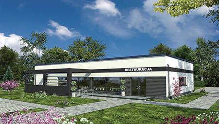 Проект одноэтажного здания общественного питания