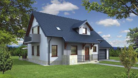 Проект аккуратного дома в благородной расцветке