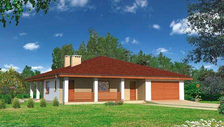 Проект одноэтажного дома площадью 160 м2