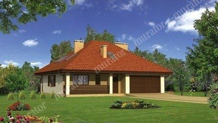 Проект жилого дома с мансардой и большим гаражом