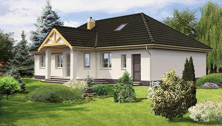 Проект одноэтажного дома с большим крыльцом