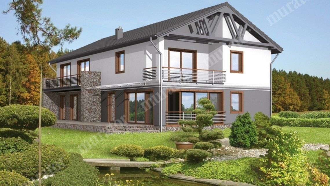 Проект двухэтажного дома на 8 спален