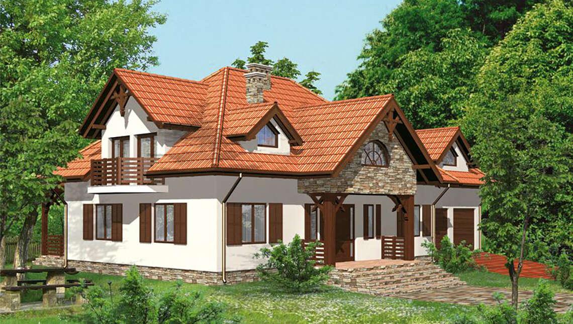 Жилой дом с  красивым декором