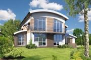 Проект роскошного дома под необычной крышей