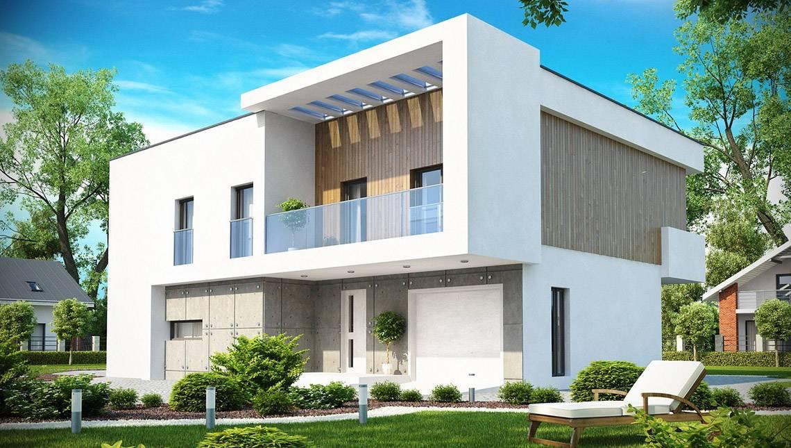 Проект дома с кабинетом и гаражом