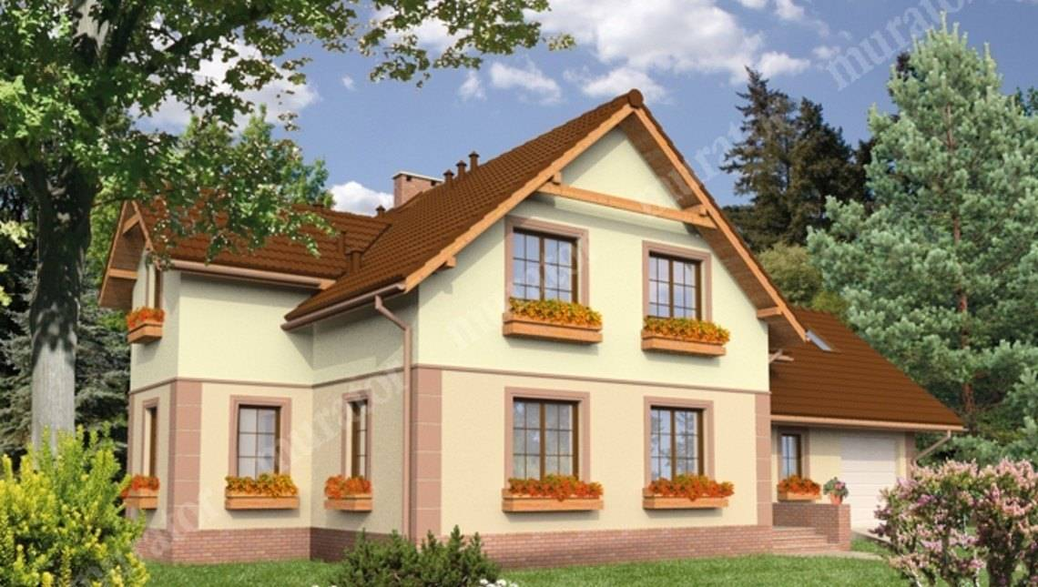Проект двухэтажного дома привлекательного вида