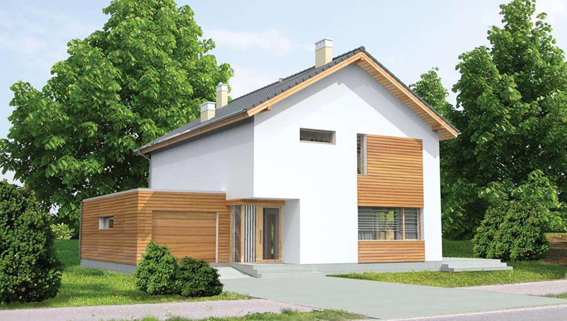 Проект стильного дома с гаражом