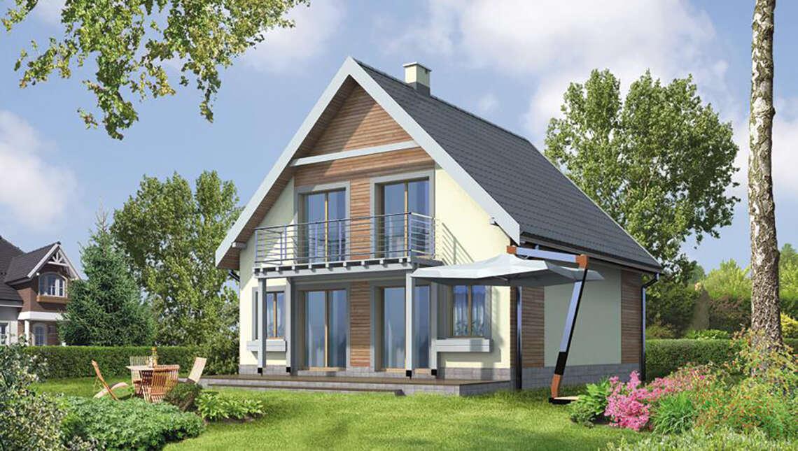 Проект видного дома на 3 спальни
