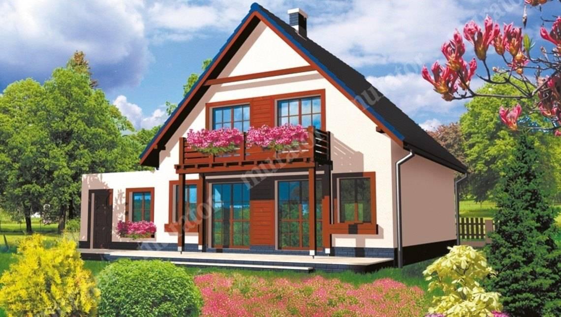 Проект яркого дома на 5 спален