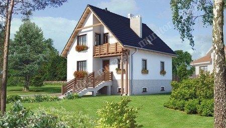 Проект видного дома с цокольным этажом