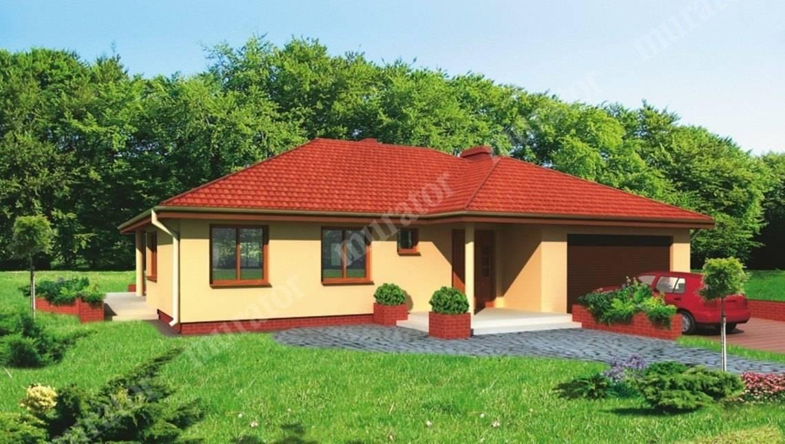 Проект одноэтажного яркого дома на 6 спален