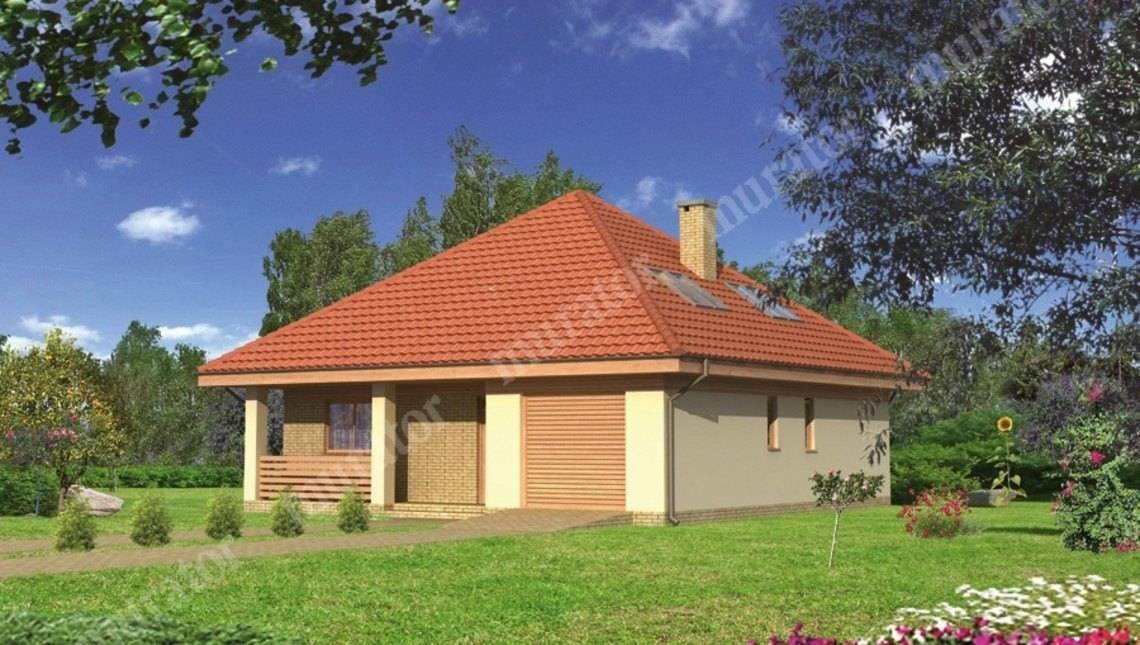 Проект красивого дома под острой крышей