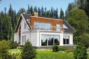 Проект двухэтажного дома интересной формы