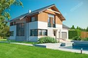Проект изящного двухэтажного дома с просторным гаражом