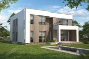 Проект двухэтажного дома в стиле минимализма
