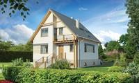 Проект привлекательного жилого дома с цокольным этажом