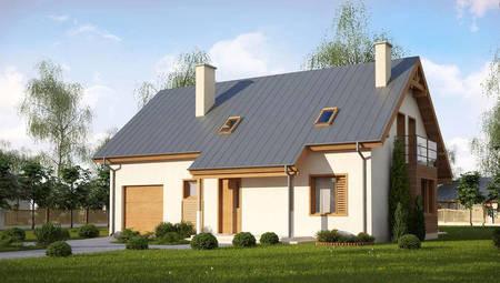 Проект частного мансардного дома  площадью 185 кв.м.