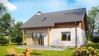 Проект небольшого уютного загородного дома в классическом стиле