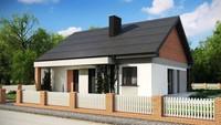 План-схема небольшого одноэтажного дома