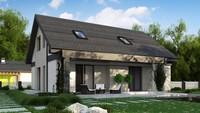 Проект дома с мансардой площадью 184 кв.м.