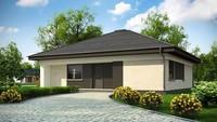 Проект небольшого уютного одноэтажного коттеджа площадью 109 кв.м.