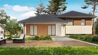 Проект 2х этажного дома с гаражом на 1 машину площадью 200 кв.м.
