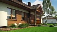 Проект небольшого одноэтажного дома площадью 105 кв.м