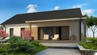 Проект одноэтажного частного дома площадью 126 кв.м.