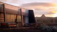 Проект нестандартного одноэтажного дома с плоской крышей общей площадью 130 кв.м.