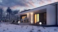 Проект шикарного большого современного загородного дома общей площадью 209 кв.м.