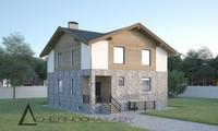 Проект усадьбы в итальянском стиле общей площадью 260 кв. м и жилой 128 кв. м