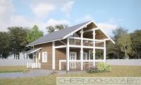 Деревянный дачный домик для сезонного проживания