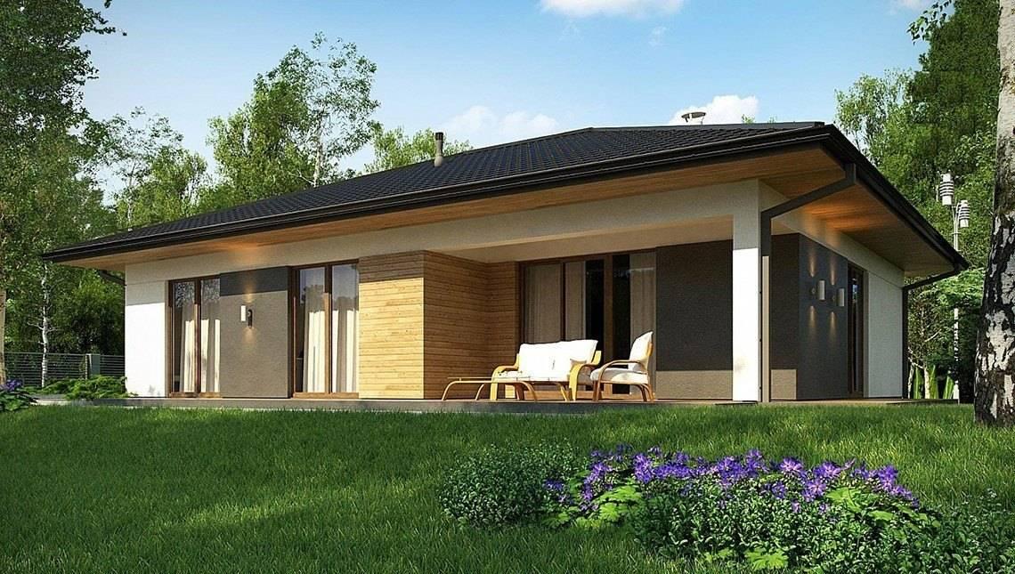 Чертеж небольшого дома площадью 124 кв. м для молодой семьи