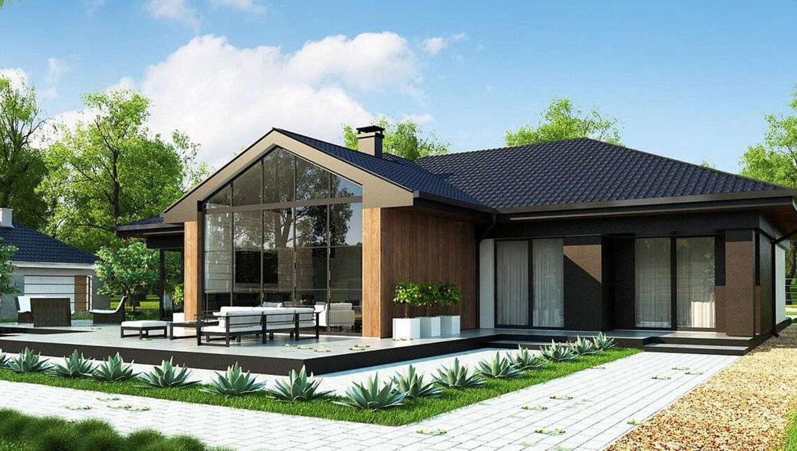 Проект симпатичного дома на 246 кв. м в современном европейском стиле