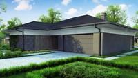 План просторного коттеджа площадью 186 кв. м с террасой и колоннами