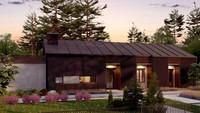 Проект современного дома площадью 170 кв. м в стиле барнхаус