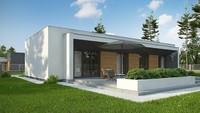 Проект белоснежного коттеджа в стиле минимализма на 170 кв. м с деревянным декором