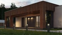 Планировка небольшого дома на 103 кв. м в стиле минимализма