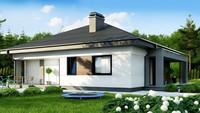 План дачного домика площадью 86 кв. м, декорированного деревянными панелями