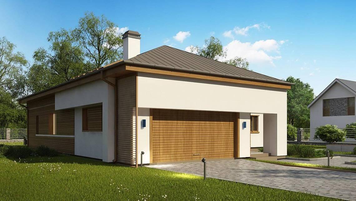 Проект шикарного особняка площадью 259 кв. м с пристроенным гаражом на два автомобиля