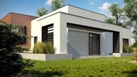 Планировка стильного жилого дома на 234 кв. м с гаражом на два автомобиля