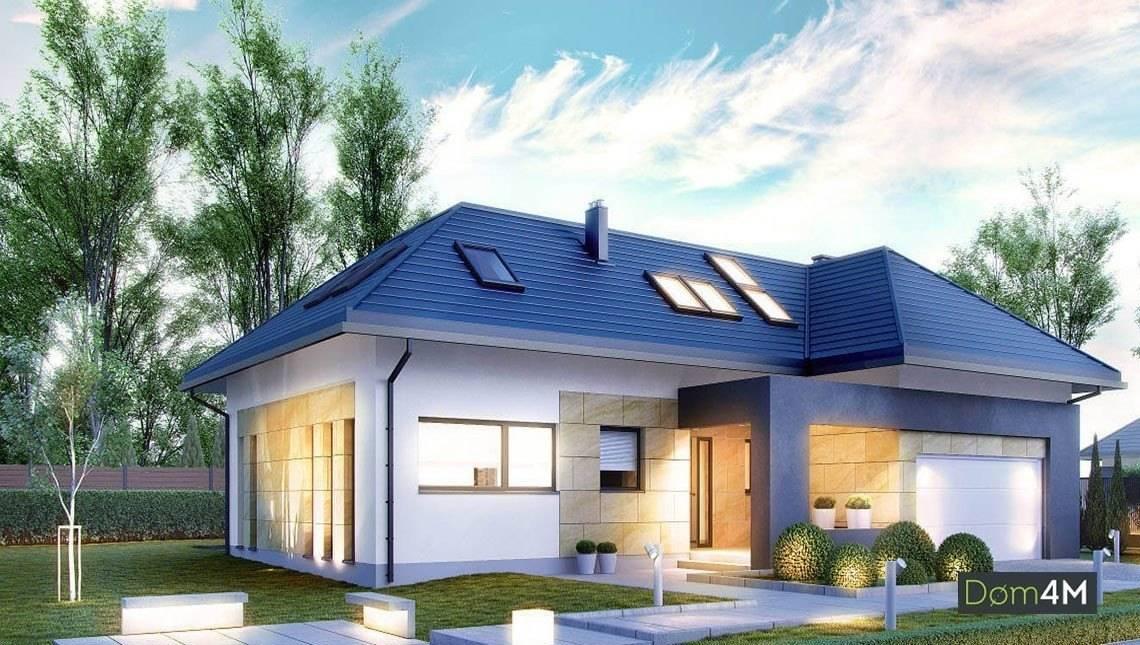 Проект красивого коттеджа с мансардной крышей
