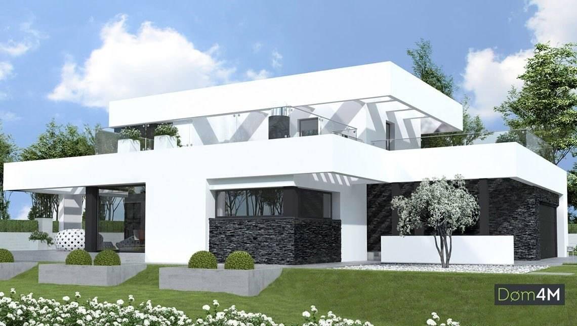 Двухэтажный дом с интересной планировкой