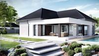 Проект модного одноэтажного жилого дома