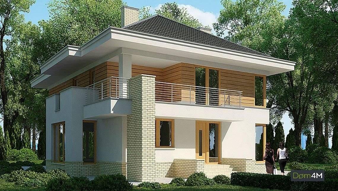 Двухэтажный жилой дом с просторными балконами