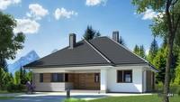 Одноэтажный жилой дом с двумя санузлами